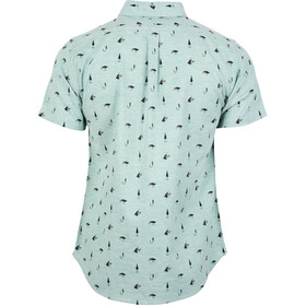 United By Blue Norde Stretch Camisa Botones Manga Corta Hombre, sea green-hooked